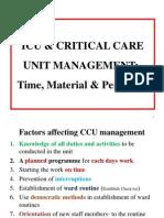 Icu & Critical Care Unit Management Time Material Personnel