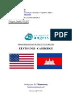 Oppositions Managériales et Culturelles Cambodge-Etats-Unis - EAP Bunnarong - M2 IESC - Université d'Angers