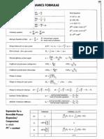 fluid dynamics equation sheet. fluid mechanics formula sheet. thermodynamics formulae dynamics equation sheet