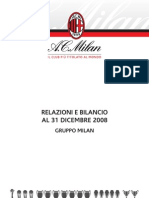 AC Milan Bilancio (Accounts and Report) 2008