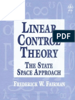 Linear Control Theory