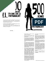 500 raisons POUR EN FINIR AVEC LE PATRIARCAT