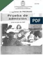 2008 1 Prueba Examen Admision Unal