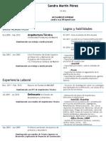 CV Sandra Martin Perez At