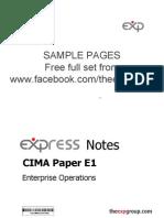 Cima e1 2012 Notes