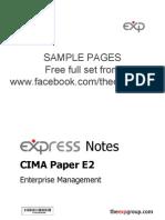 Cima e2 2012 Notes