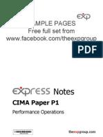 Cima p1 2012 Notes