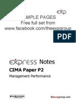 Cima p2 2012 Notes