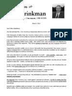 Brinkman Rebuttal letter