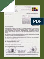 Official Letter of Invitation of Comenius PM4