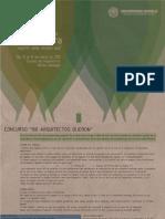 """Cartel del Concurso """"100 Arquitectos Dijeron"""""""