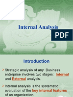 IV. Internal Analysis