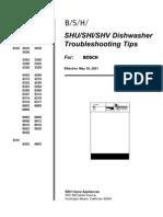 Bosch SHE Dishwasher Troubleshooting