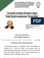 Conociendo La Historia de Nuestro Colegio 2011-2012