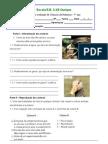 Teste avaliação ciências da natureza 5º ano Alimentação dos animais