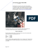 Bicycle Generator Using Cordless Drills 2005