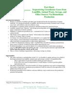 Biogas Methane Factsheet 1998