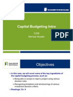 Capital Budgeting Notes