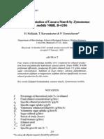 Ethanol Fermentation of Cassava Starch by Zymomonas Mobilis NRRL B-4286