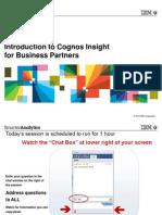 IBM Cognos Insight Launch