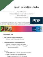 Gender Gaps in Education - India