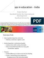 Gender Gaps in Education - India