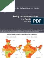 Gender in Education - India