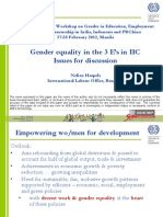 Gender Equality in the 3 E's in IIC - Issues for Discussion