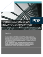 Critical Analysis of Virgin Atlantic Website