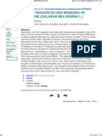 Genetic Resources and Breeding of Aubergine (Solanum Melongena l