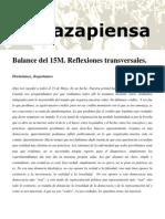 Balance del 15M. Reflexiones transversales