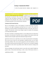 CHP6 - Choosing a Communication Method