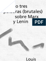 Althusser - Dos o Tres Palabras Brutales Sobre Marx y Lenin