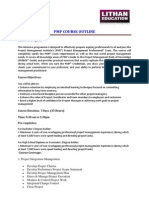 PMP Course Outline Latest1