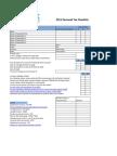 2011 Personal Income Tax Checklist