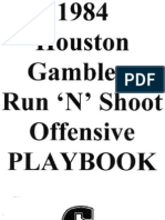 1984 Houston Gamblers Playbook