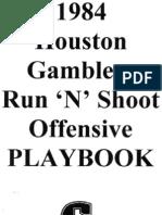 1984 Houston Gamblers Playbook