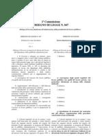 Disegno Di Legge n. 847