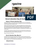 Doughnut Liberation Day (a Guide) | the Morgazine