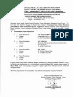 an Lulus Seleksi Dokumen Prakualifikasi Perencaan Teknis Irigasi DAU