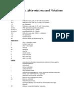 WX Acronymns Abbreviations Notations
