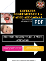 Defectos Congenitos de La Pared Abdominal