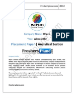Wipro Analytical Paper 1 2012
