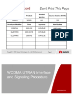3 WCDMA UTRAN Interface and Signaling Procedure ISSUE 1.21