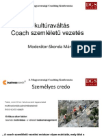 06 - Vállalati kultúraváltás, coaching szemléletű vezetés