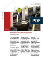 Germination Investigation