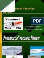 Pneumococcal Vaccines