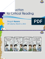 Introduction to Critical Reading