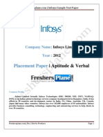 Infosys Test Pattern