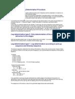 Explanation of Leg Determination Procedure